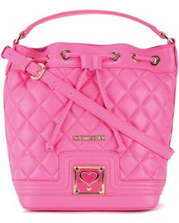 Quilted Drawstring Crossbody Bag