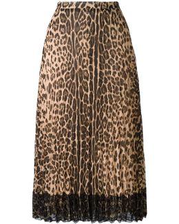 Leopard-print Chiffon Skirt