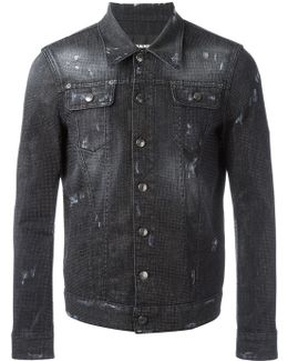 Microstudded Denim Jacket