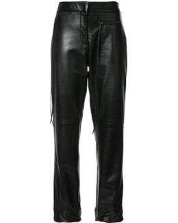 Emir Cuffed Hem Cigarette Trousers