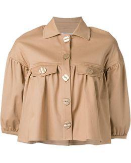 Ruffled Cropped Jacket