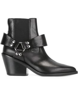 Elasticated Detail Ankle Boots