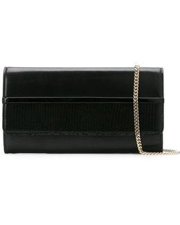 Embossed Wallet Clutch Bag