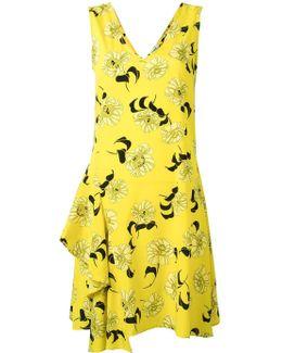 Split Floral Print Dress