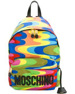 Wavy Print Backpack