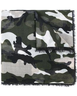Garavani Camouflage Scarf