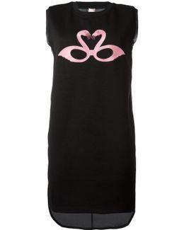 Flamingo Print Sleeveless Sweatshirt