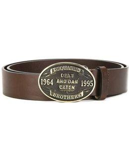 Embossed Plaque Belt