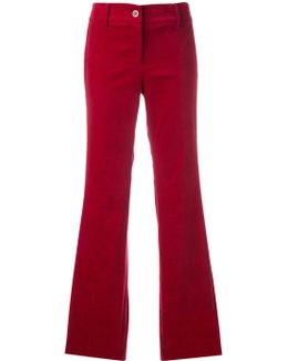Side Stripe Flared Trousers