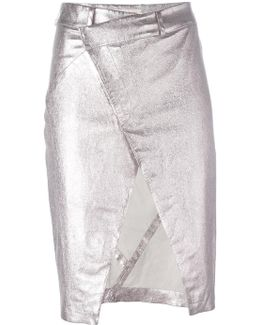 Open Front Pencil Skirt