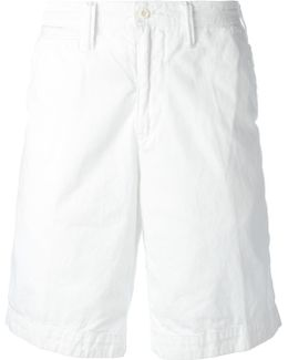 Embroidered Logo Chino Shorts