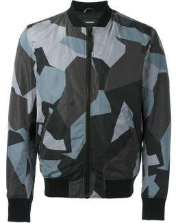 Geometric Print Bomber Jacket
