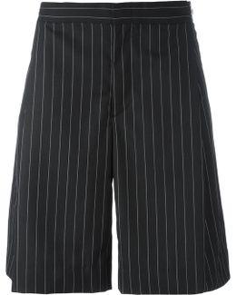 Wide Pin Stripe Shorts