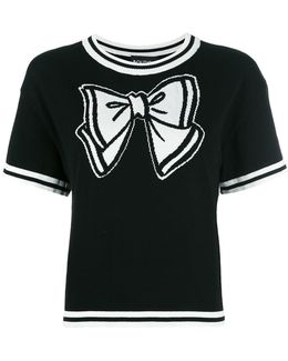 Bow Knitted T-shirt