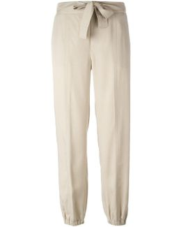 Gathered Ankle Trousers