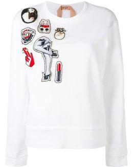 Multiple Patches Sweatshirt