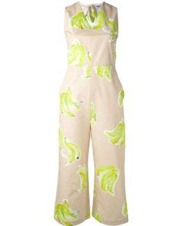 Banana Print Jumpsuit