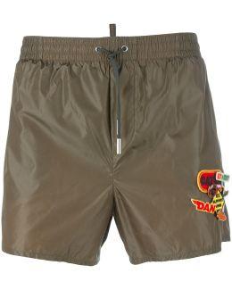 Logo Patch Swim Shorts