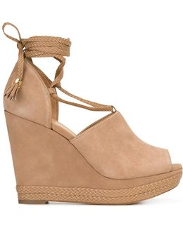 Wedge Lace-up Pumps