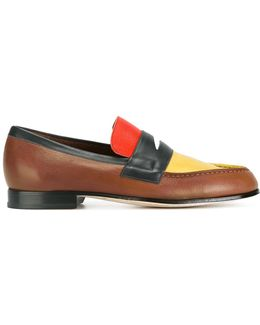 Block Panel Loafers