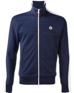 Colour Block Zipped Sweatshirt