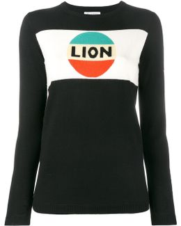Lion Stripe Intarsia Jumper