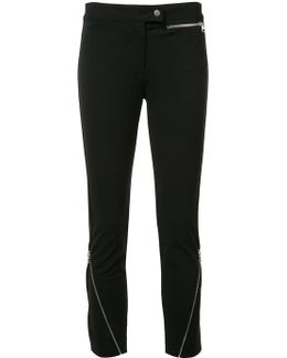 Zipped Detail Cropped Trousers