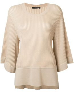 Ribbed Flared Jumper