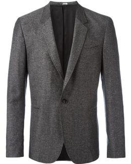 Woven Button Blazer