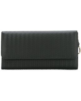Embossed Fold-over Clutch