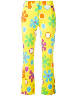 Flower Power Cropped Trousers