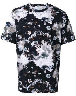 Winter Flowers Print T-shirt