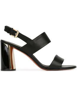Buckled Sling-back Sandals