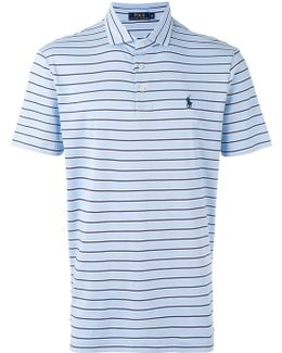 Logo Embroidered Striped Polo Shirt