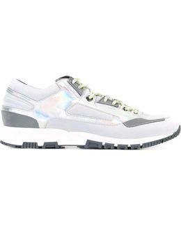 Metallic Patchwork Running Sneakers