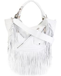 Babe Wire Fringed Hobo Bag