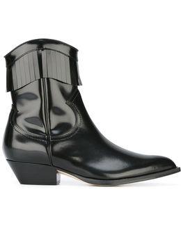 Varnished Fringe Cowboy Boots
