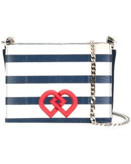 Medium Dd Striped Crossbody Bag
