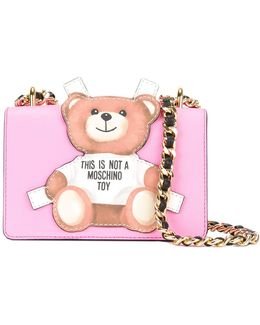 Toy Bear Paper Cut Out Crossbody Bag