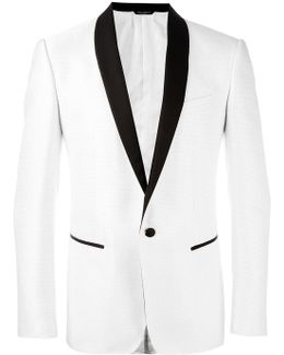 Dotted Print Dinner Jacket