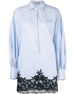 Striped Shift Shirt Dress