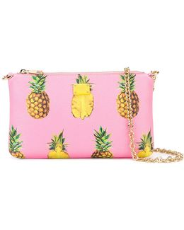 Mini Pineapple Print Shoulder Bag