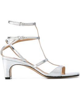 Metallic (grey) Sandals