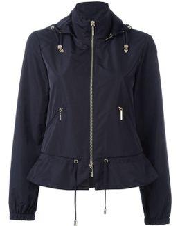 Zip Up Hooded Biker Jacket