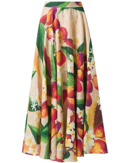 Mango And Floral Skirt