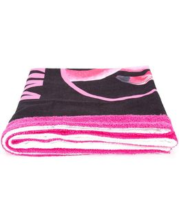 Flamingo Logo Beach Towel