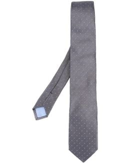 - Dots Patter Tie - Men - Silk - One Size