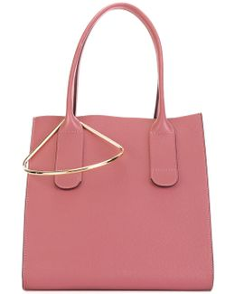 Tote Bag With Gold Tone Detail