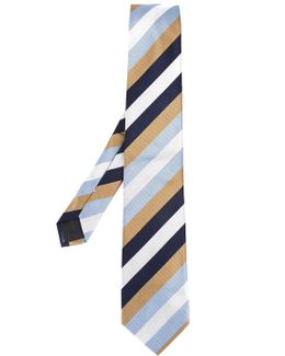 - Striped Tie - Men - Silk - One Size