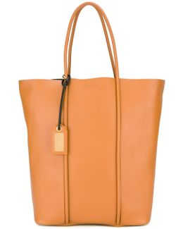 - Tubular Detail Tote Bag - Women - Calf Leather - One Size
